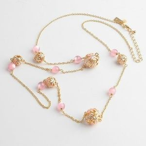 """Kate Spade """"At First Blush"""" Pearl Flower Necklace"""